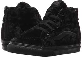 Vans Kids Sk8-Hi Zip Black/Black) Girls Shoes