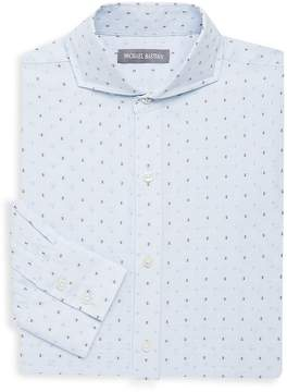Michael Bastian Men's Geometric Cotton Dress Shirt