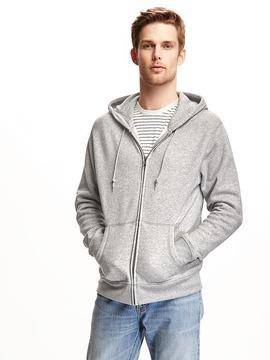 Old Navy Heathered Zip-Front Hoodie for Men