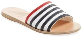 Ancient Greek Sandals Women's Stripes Leather Slip-On Sandal