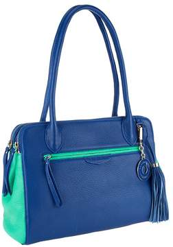 Isaac Mizrahi Live! Bridgehampton Color-Block Zip Top Satchel