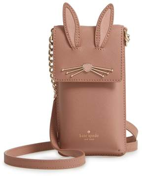 Kate Spade Rabbit Leather Smartphone Crossbody Bag