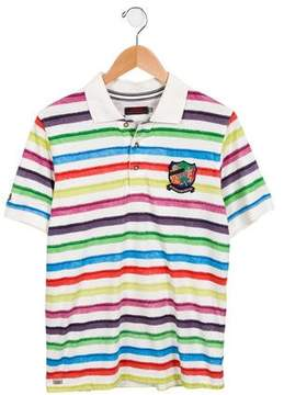 Catimini Boys' Embroidered Striped Shirt