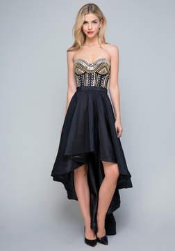 Bebe Crystal Beaded Gown