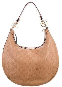 Gucci Guccissima Twins Medium Hobo - BROWN - STYLE