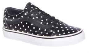 Vans Old Skool Leather Low Top Sneaker - Black / White