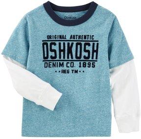 Osh Kosh Boys 4-12 Denim Co. Mock-Layer Tee