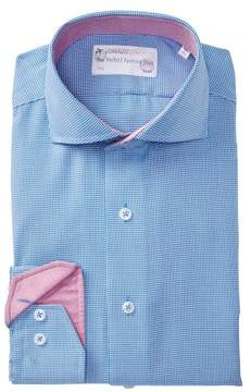 Lorenzo Uomo Triangle Pattern Trim Fit Dress Shirt