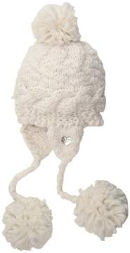 Betsey Johnson Pearly Girl Earflap Hat Beanies