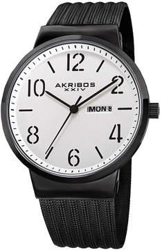 Akribos XXIV Mens Black Strap Watch-A-996bk