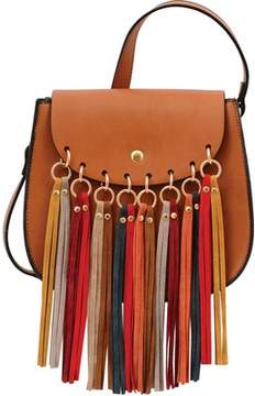 Mellow World Delilah Multicolored Fringe Saddle Bag (Women's)