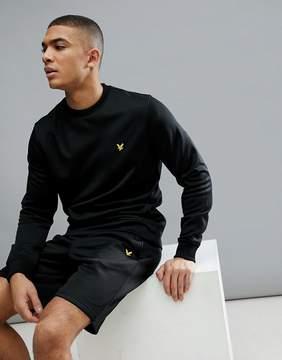 Lyle & Scott Fitness Braid Sweater In Black