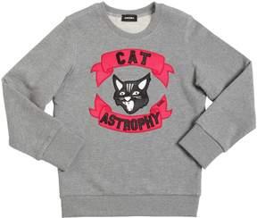 Diesel Cat Patch Cotton Sweatshirt