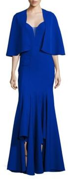 Alberto Makali Two-Piece Sweetheart Gown & Cape