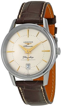 Longines Heritage Flagship Automatic Silver Dial Brown Leather Men's Watch L47954782