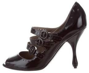 Bottega Veneta Leather Multistrap Pumps