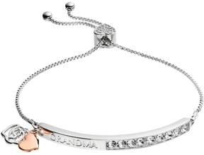 Brilliance+ Brilliance Two Tone Grandma Bolo Bracelet with Swarovski Crystals