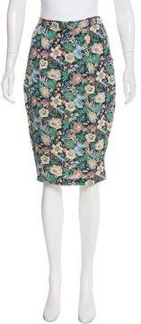 Steven Alan Silk Floral Print Skirt