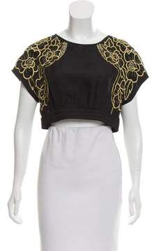Alice McCall Embroidered Crop Top