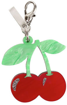 Edie Parker Cherries Bag Charm