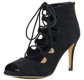 Thalia Sodi Luana Open Toe Suede Sandals.