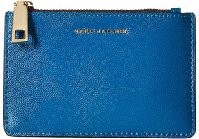 Marc Jacobs Saffiano Color Blocked Top Zip Multi Wallet Wallet Handbags - BRIGHT TEAL MULTI - STYLE