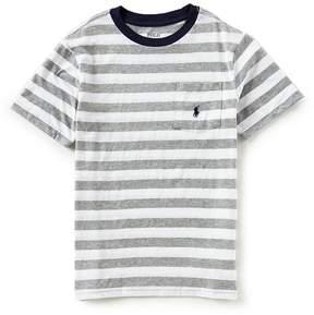 Ralph Lauren Big Boys 8-20 Short Sleeve Striped Jersey T-Shirt