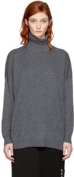 Enfold Grey Rib Knit Turtleneck