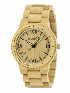 Earth Bighorn Collection ETHEW3501 Unisex Wood Watch with Wood Bracelet-Style Band