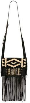 Etro Embroidered Deerskin Fringe Shoulder Bag