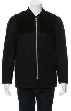 Dries Van Noten Felted Zip-Front Jacket