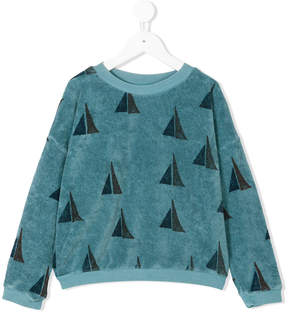 Bobo Choses sail boat pattern sweatshirt