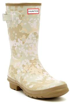 Hunter Short Waterproof Flecktarn Camo Matte Rain Boot