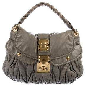 Miu Miu Matelassé Pleated Handle Bag