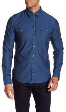 HUGO BOSS Long Sleeve Print Slim Fit Woven Shirt