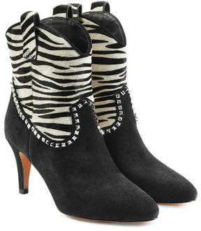 Marc Jacobs Ankle Boots with Calf Hair