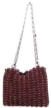 Paco Rabanne Chainmail Le 69 Suede Shoulder Bag