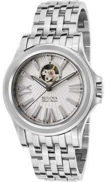 Bulova Accu-Swiss Watches Mens Kirkwood Automatic Stainless Steel Watch