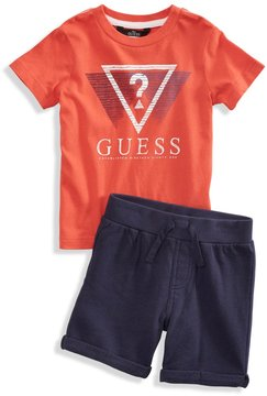 GUESS Logo Tee and Shorts Set (2-7)