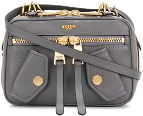 Moschino small logo embossed shoulder bag