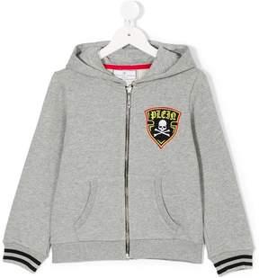 Philipp Plein Junior hazard patch zipped jacket