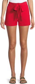 J.o.a. Tie-Waist Chiffon Shorts