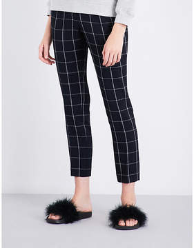 Claudie Pierlot Pia windowpane-check crepe trousers