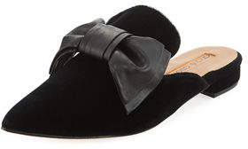 Andre Assous Prince Velvet Mule with Bow