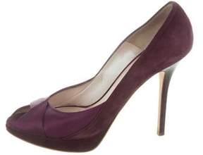 Christian Dior Peep-Toe Platform Sandals