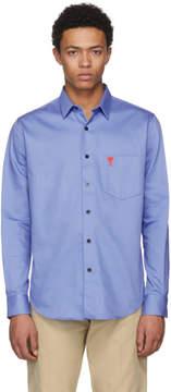 Ami Alexandre Mattiussi Blue Ami de Coeur Shirt