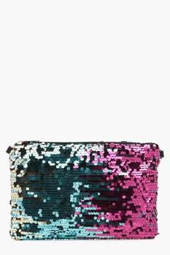 boohoo Luna Ombre Sequin Clutch Bag