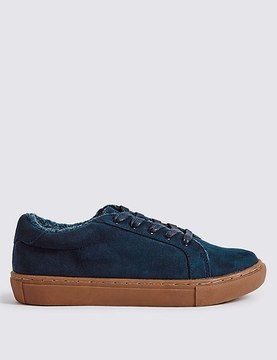 Marks and Spencer Fur Lace-up Trainers