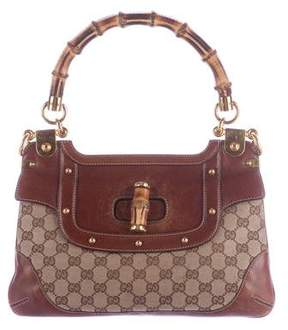 Gucci GG Bamboo Top Handle Bag - BROWN - STYLE