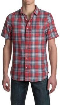 Jachs Single-Pocket Double-Faced Plaid Shirt - Short Sleeve (For Men)